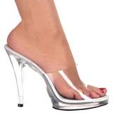 hvit gjennomsiktig 12 cm FLAIR-401 høye slip in sko til menn