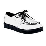 hvit lær 2,5 cm CREEPER-602 platå creepers sko til menn