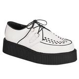 hvit lær 5 cm CREEPER-402 platå creepers sko til menn