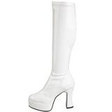 hvit lakk 11 cm Funtasma EXOTICA-2000 platå høye støvler