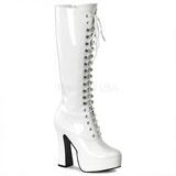 hvit lakk 13 cm ELECTRA-2020 platå høye støvler
