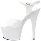 hvit lakk 18 cm ADORE-709 plattform hæl sko