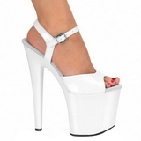 hvit lakk 19 cm Pleaser TABOO-709 platå høye hæler sko