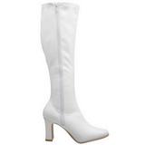 hvit lakk 9,5 cm FUNTASMA KIKI-350 høye støvler dame