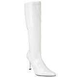 hvit lakk 9,5 cm FUNTASMA LUST-2000 høye støvler dame