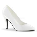 hvit lakkert 10 cm VANITY-420 dame pumps sko flate hæl