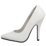 hvit lakkert 10 cm VANITY-420 spisse pumps med høye hæler