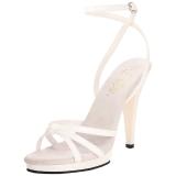 hvit lakkert 12 cm FLAIR-436 high heels sko til menn