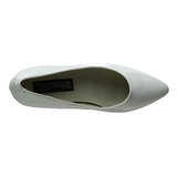 hvit lakkert 7,5 cm PUMP-420 klassiske pumps sko til dame