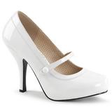 hvit lakklær 11,5 cm PINUP-01 store størrelser pumps sko