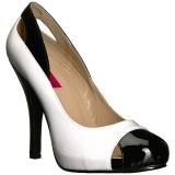 hvit lakklær 12,5 cm EVE-07 store størrelser pumps sko