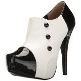 hvit lakklær 13,5 cm CHLOE-11 store størrelser pumps sko