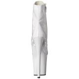 hvit lakklær 20 cm FLAMINGO-1021 ankelstøvletter med platåsåle til dame