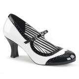 hvit lakklær 7,5 cm JENNA-06 store størrelser pumps sko
