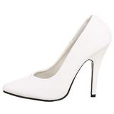 hvit matt 13 cm SEDUCE-420 spisse pumps med høye hæler