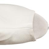 hvit matt 15 cm DELIGHT-1019 høye ankelstøvletter med frynser til dame