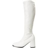 hvit matt 7,5 cm Funtasma GOGO-300 høye støvler dame