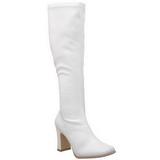 hvit matt 9,5 cm FUNTASMA KIKI-350 høye støvler dame