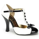 hvit semsket 10 cm SMITTEN-10 dame pumps sko flate hæl