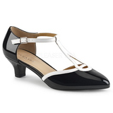 hvit svart 5 cm FAB-428 store størrelser pumps sko