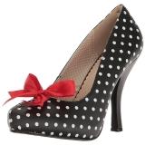 hvite punkter 11,5 cm PINUP-05 store størrelser pumps sko