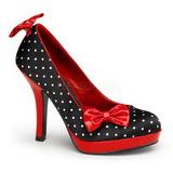 hvite punkter 12 cm SECRET-12 høye pumps dame sko