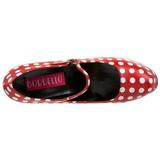 hvite punkter 14,5 cm Burlesque TEEZE-08 røde pumps sko med hæl