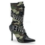 kamuflasje 9,5 cm MILITANT-128 flate ankelstøvler dame