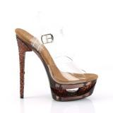 kobber 16,5 cm ECLIPSE-608GT sandaletter med stiletthæl