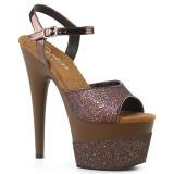 kobber 18 cm ADORE-709-2G glitter platå sandaler dame