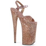 kobber 25,5 cm BEYOND-010LG glitter platå høye hæler dame