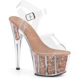 kobber glitter 18 cm Pleaser ADORE-708G pole dancing sko