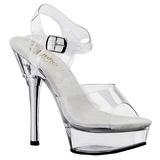 komplett gjennomsiktig 14 cm ALLURE-608 plateau høy hæl sko