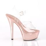krom 15 cm Pleaser KISS-208 platform høyhælte sko