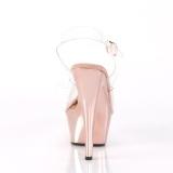 krom 18 cm Pleaser KISS-208 platform høyhælte sko