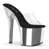 krom 18 cm Pleaser RADIANT-701 dame slip ins med hæler