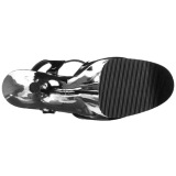 krom 25,5 cm BEYOND-009 ekstremt høye hæler - veldig høye platå hæler