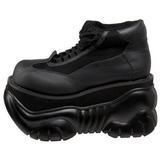 kunstlær 10 cm BOXER-01 platå gotisk sko til menn