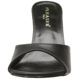 kunstlær 10 cm CLASSIQUE-01 dame slip ins med hæler