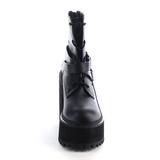 kunstlær 12 cm ASSAULT-101 platå ankelstøvler gothic tykke såler