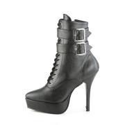 kunstlær 13,5 cm INDULGE-1026 stiletto ankelstøvler med høye hæler