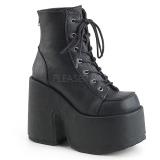 kunstlær 13 cm DEMONIA CAMEL-203 gothic ankelstøvler