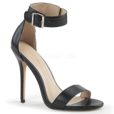 kunstlær 13 cm Pleaser AMUSE-10 dame sandaler med hæl