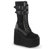 kunstlær 14 cm SWING-221 lolita støvler gothic platå tykke såler