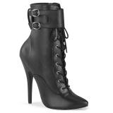 kunstlær 15 cm DOMINA-1023 stiletto ankelstøvler med høye hæler