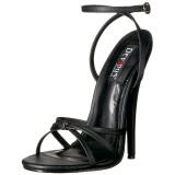 kunstlær 15 cm DOMINA-108 fetish sandaler med stiletthæler
