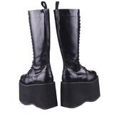 kunstlær 15 cm MEGA-602 platå gotisk støvler til menn