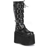 kunstlær 15 cm MEGA-618 platå gotisk støvler til menn