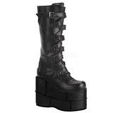 kunstlær 18 cm STACK-308 platå gotisk støvler til menn