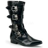 kunstlær 2,5 cm BROGUE-107 winklepicker goth støvler til menn